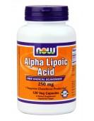 Alpha lipoid 250mg/120 caps Альфа-липоевая кислота 250 мг/120 капс. Now