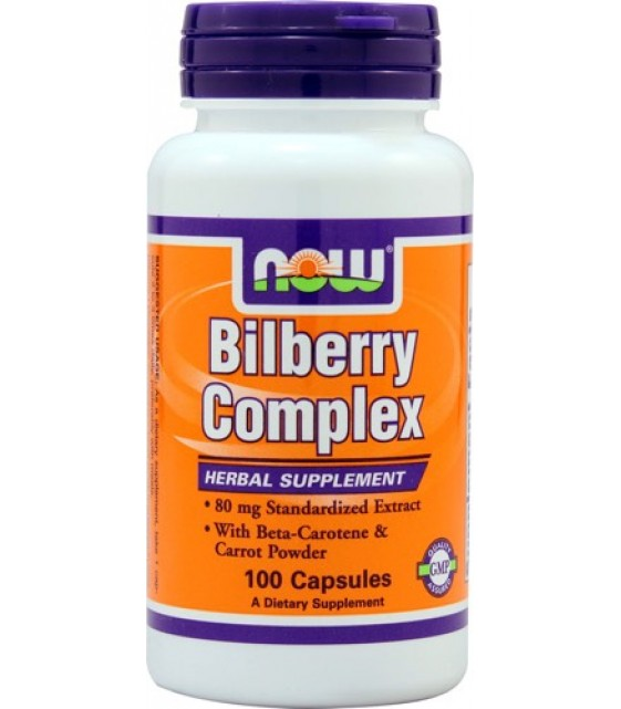 Bilberry Complex, Экстракт черники 100 капс. NOW