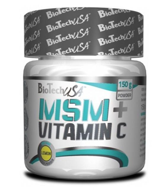 MSM + Vitamin C МСМ+ Витамин С, 150 гр Biotech USA