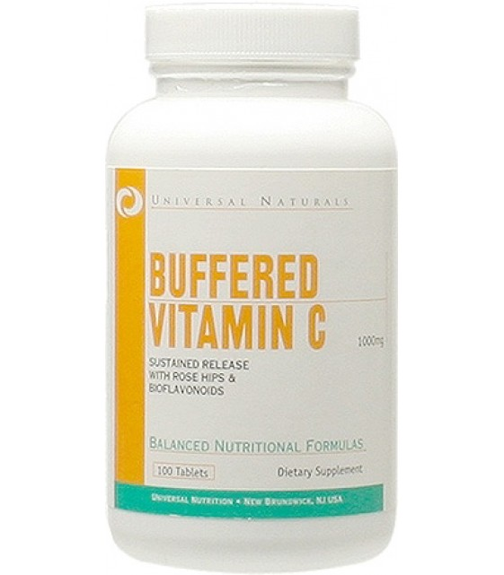Buffered Vitamin C, витамин С, 100 таб Universal Nutrition