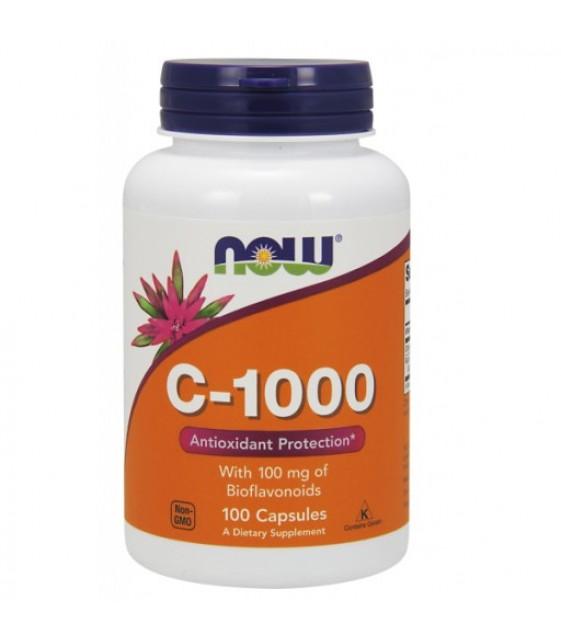 C-1000, витамин С-1000 100 капс NOW