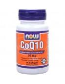 Coenzyme Q10 Кофермент Q10 30 мг, 60 капс NOW