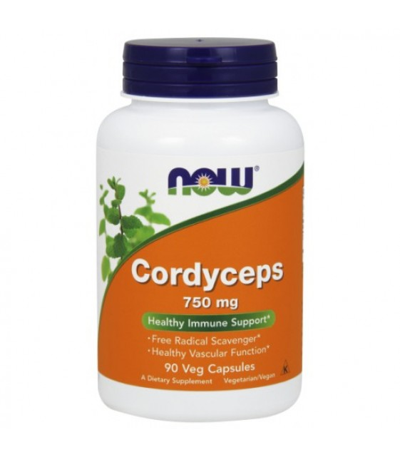 Cordyceps/ Кордицепс 750 мг/90 капс. NOW