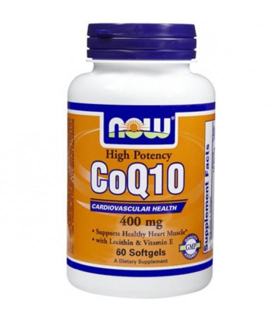 Coenzyme Q10 Кофермент Q10 400 мг, 60 капс NOW