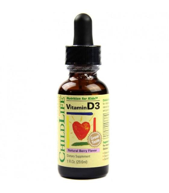 Витамин Д3 для Детей со вкусом ягод, 29,6 мл, ChildLife
