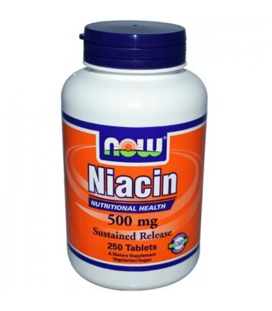 Niacin - Витамин B3 Ниацин В-3 , 500 мг/100 капс. NOW
