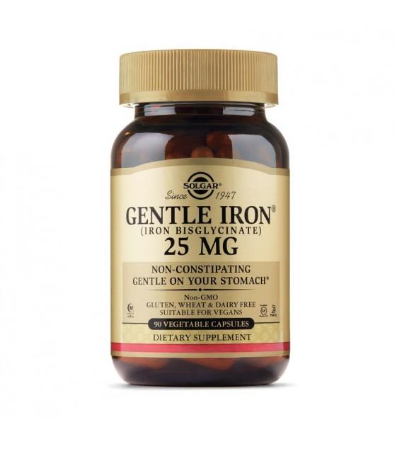 Gentle Iron, Железо, 25mg, 90 veg caps