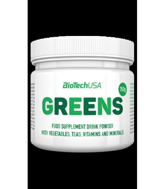 Greens витамины, клетчатка, 150 гр Biotech USA