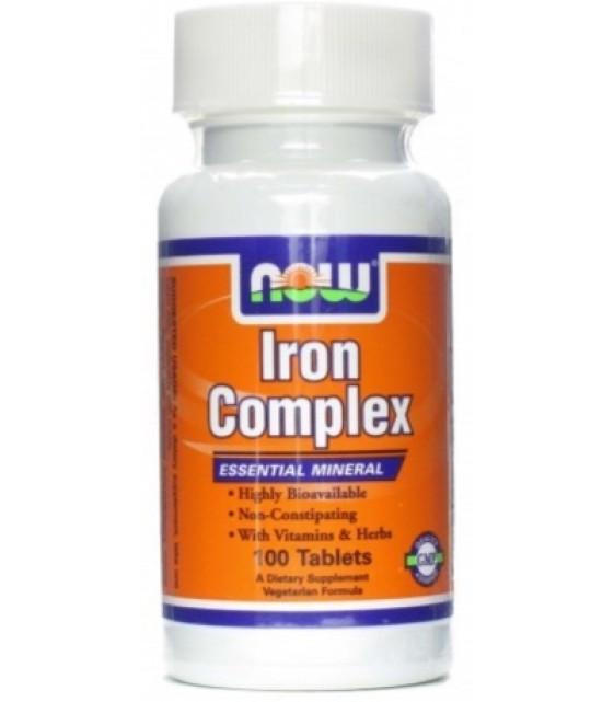 Iron Complex Комплекс с железом, 100 таб Now