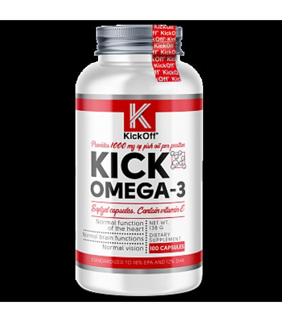 KICK OMEGA-3 100 softgels, KickOff