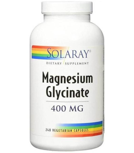 Magnesium Glycinate 400mg, 240 VegCaps, Solaray