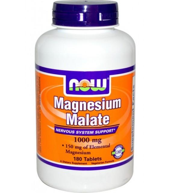 Magnesium Malate, Магний Малат 1000 мг, 180 таб. NOW