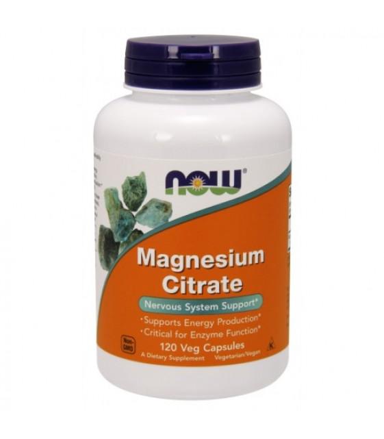 Magnesium Citrate, Магний Цитрат, 120 вег.капс NOW