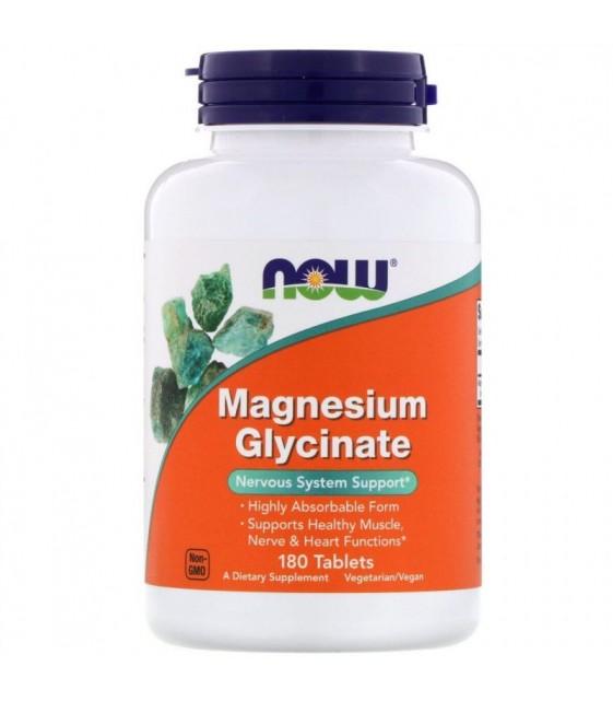 Magnesium Glycinate, Магний Глицинат, 180 табл NOW