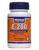 Витамин Е-200, 100 капс, Now