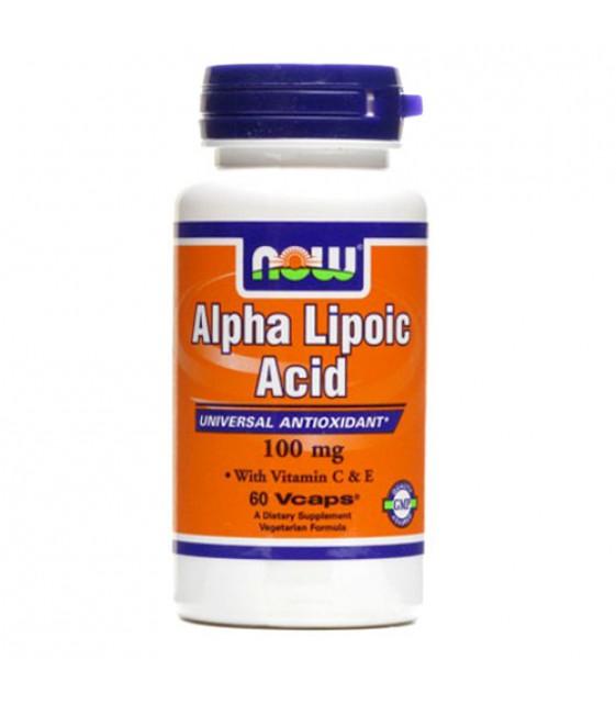 Alpha Lipoic Альфа-липоевая кислота 100 мг/120 капс. Now