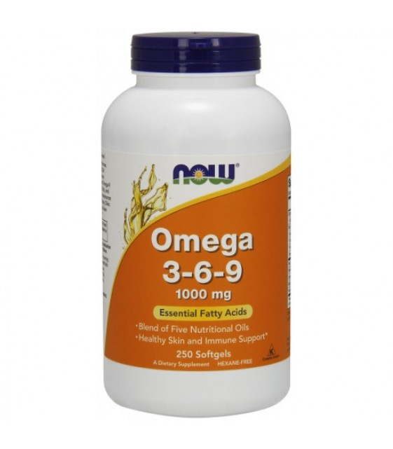 Omega 3-6-9 1000 мг/250 гель. капс, Now Foods