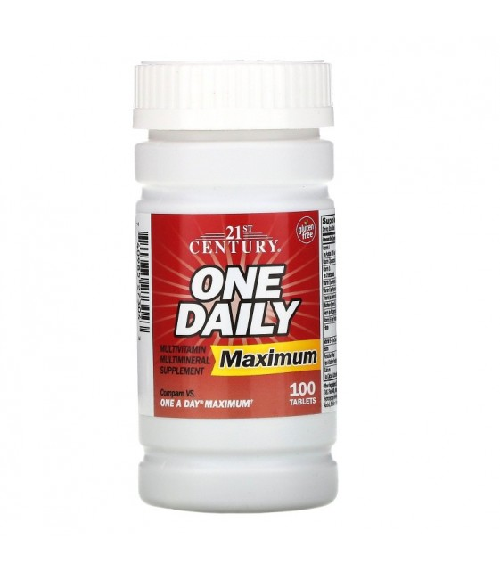 One Daily Maximum, 100 tablets, 21st CENTURY