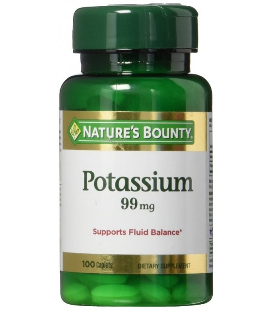 Potassium , Калий 99 mg, 100 caplets, Nature's Bounty