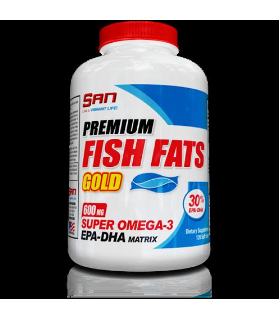 Premium Fish Fats Gold, Премиум фиш фэт, 120 капс SAN