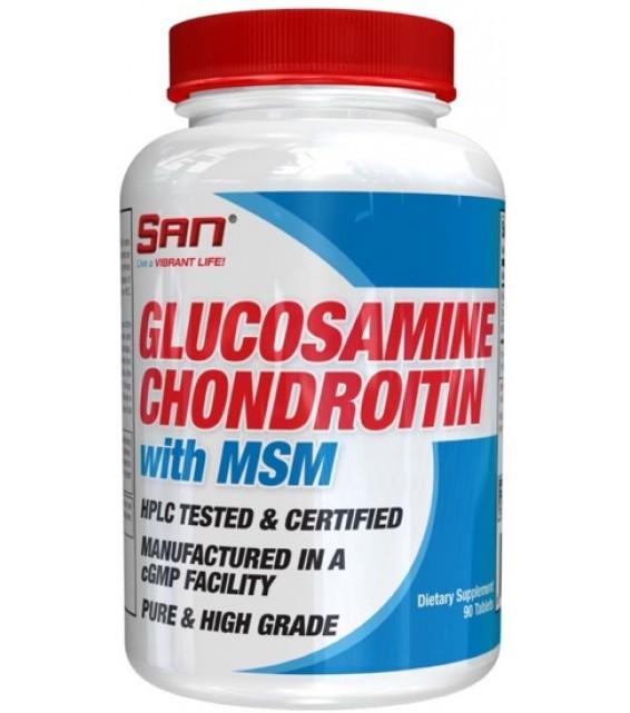 Glucosamine Chondroitin c MSM, 180 табл SAN