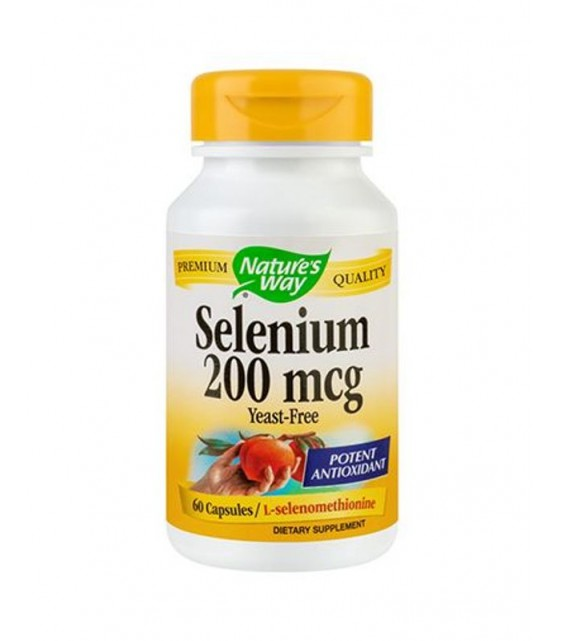 Selenium Селен 200 mcg 100 caps Nature's Way