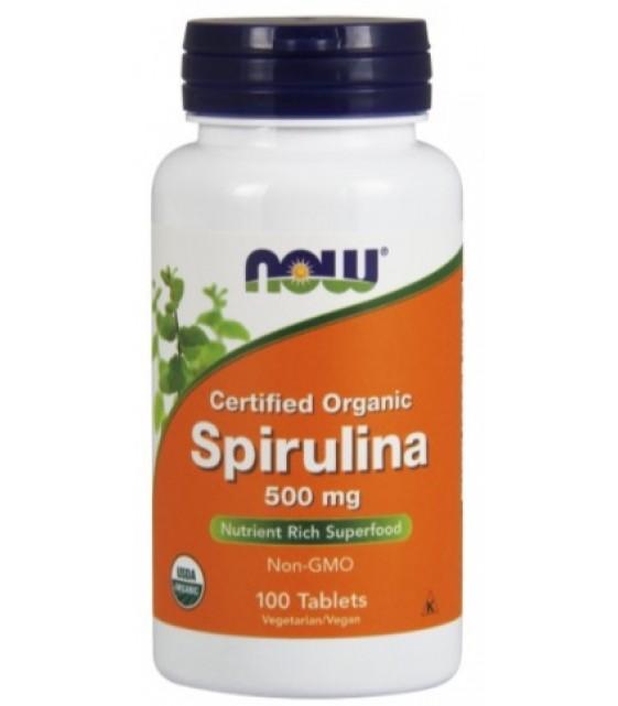 Spirulina Спирулина 500 мг/200 таб. NOW