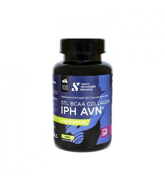 BCAA Collagen IPH AVN аминокислотный пептидный комплекс для мужчин для защиты сосудов 100 таб. STL