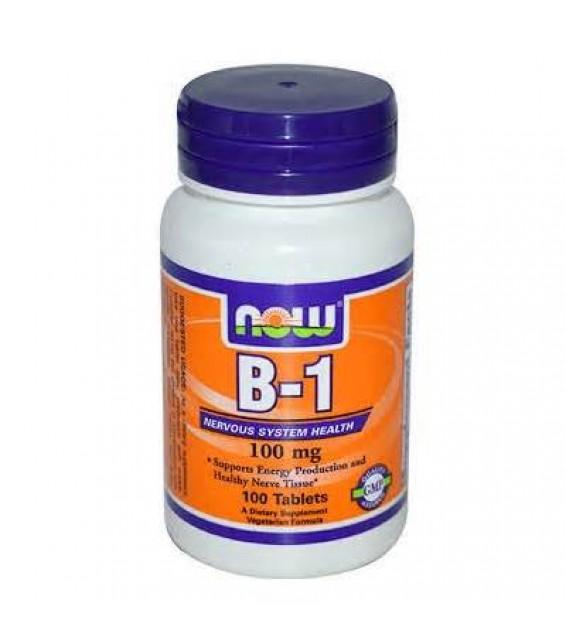 B-1  Витамин B-1 100 мг/100 таб. NOW