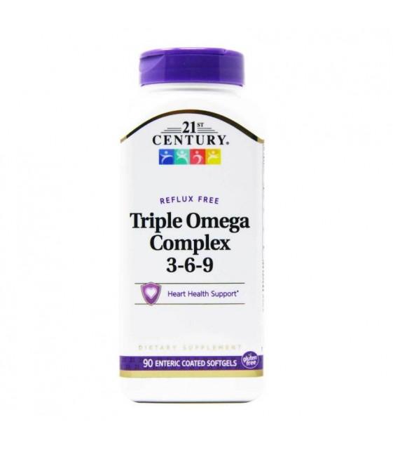 Triple Omega Comple 3-6-9, 90 softgels, 21st Century