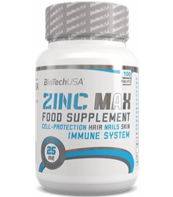 Zinc Max 25 mg Цинк, 100 табл Biotech USA